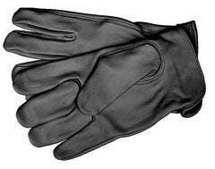 Mens Lined Black Deer Glove