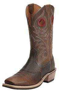Ariat Mens Brown Oiled Rowdy Heritage Roughstock Wide Square Toe Western Boot