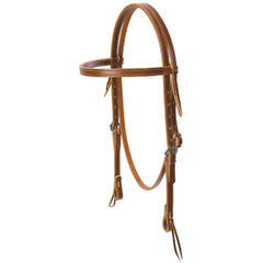 Deluxe Brown Latigo Headstall
