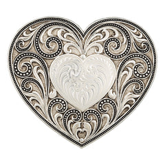 Antique Heart Whisperer Buckle