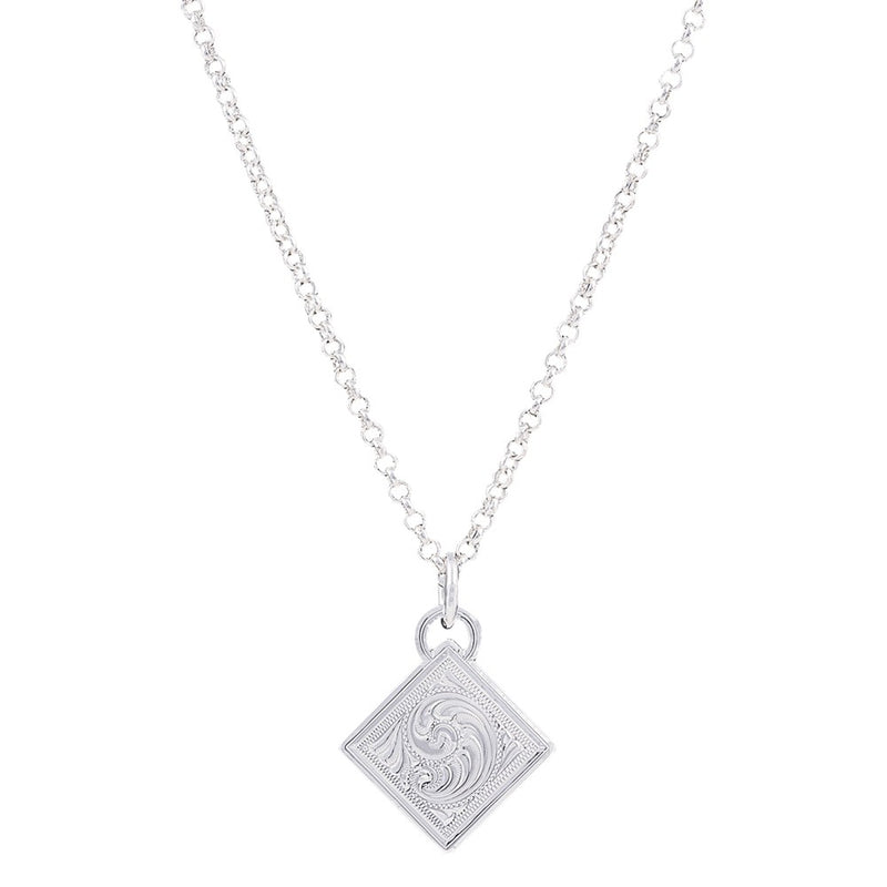 Diamond Token Necklace