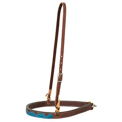 Wingtip Noseband, Brown/Turq