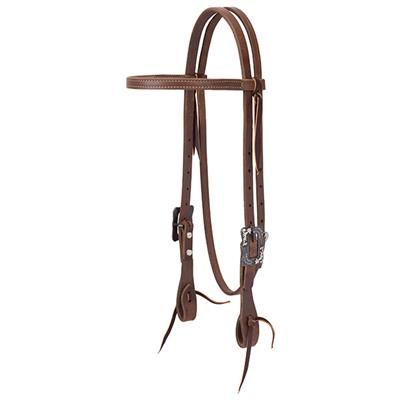 Oiled Russet Brow Headstall