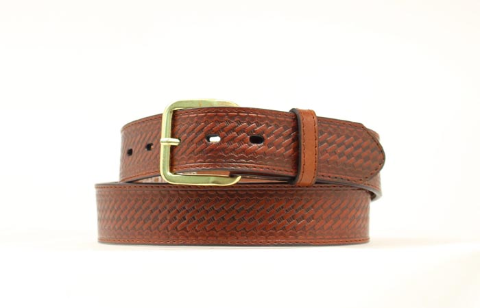 Brown Basketweave Money Belt