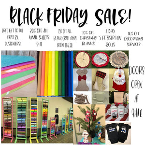 Black Friday at The Craft Hut