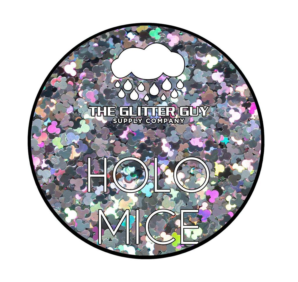 Silver Holographic Mickey Glitter Shapes