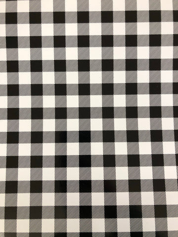 White Plaid Adhesive