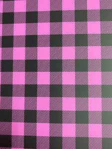 Pink Plaid HTV