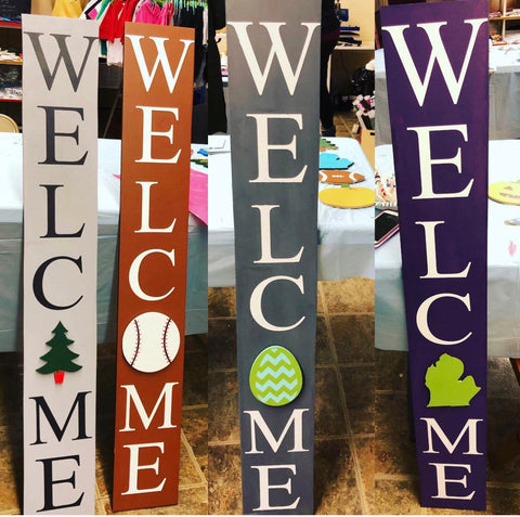 DIY Interchangeable Welcome Sign