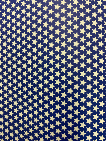 Red or Blue Star Pattern HTV