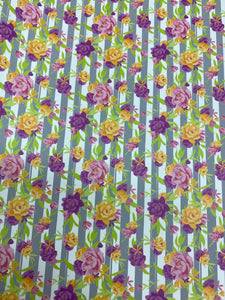 Striped Peonies Pattern HTV