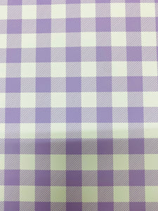 Purple And White Plaid HTV