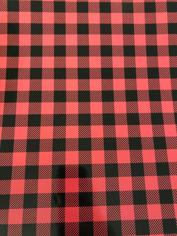 Red Plaid Adhesive