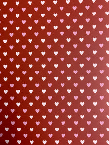 Red and Pink Heart Pattern HTV