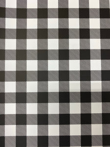 White Buffalo Plaid Adhesive
