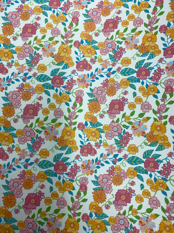 Pretty Flower Pattern HTV