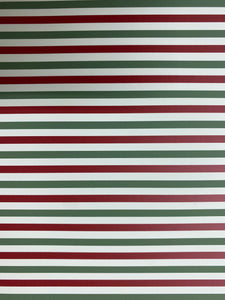 Green and Red Stripe Pattern HTV