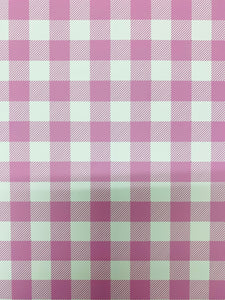 Pink and White Plaid HTV