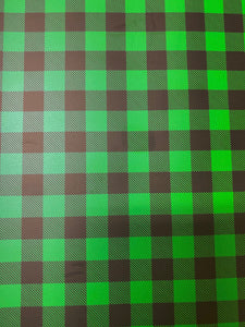 Green Buffalo Plaid Adhesive