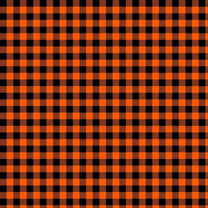 Orange and Black Plaid HTV