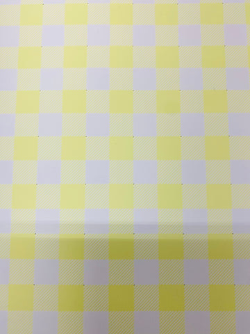 Yellow and White Plaid HTV
