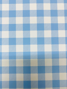 Pale Blue and White Plaid HTV