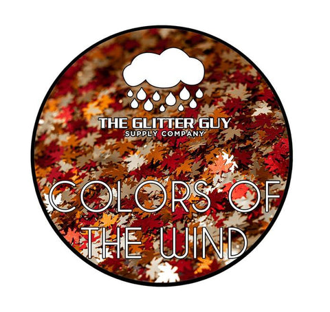 Colors of the Wind Glitter Shapes