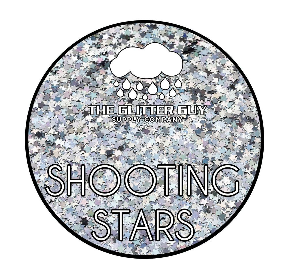 Shooting Stars Glitter Shapes