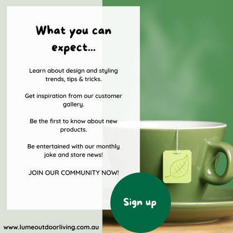 sign up to lume outdoor living newsletter