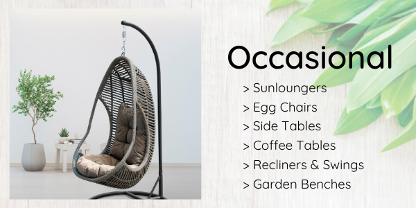 egg chair swing sunlounge recliner side table brisbane