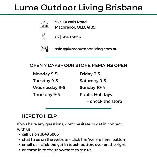 contact lume outdoor living