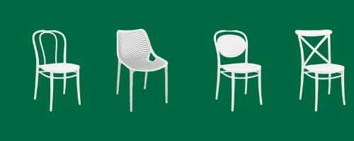 resin chairs white