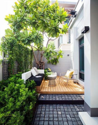 pinterest small backyards