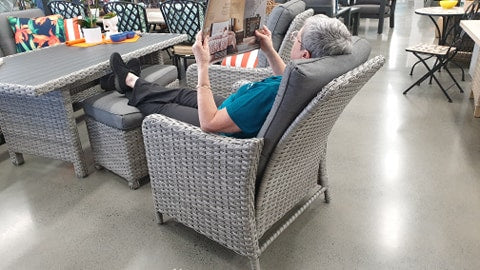wicker outdoor furniture with recliners brisbane