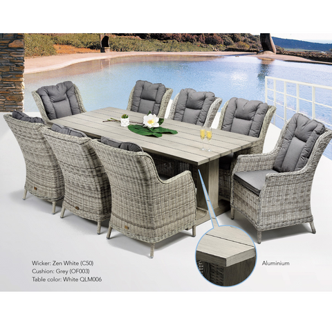 Agen & San Jose Wicker Outdoor Dining Set