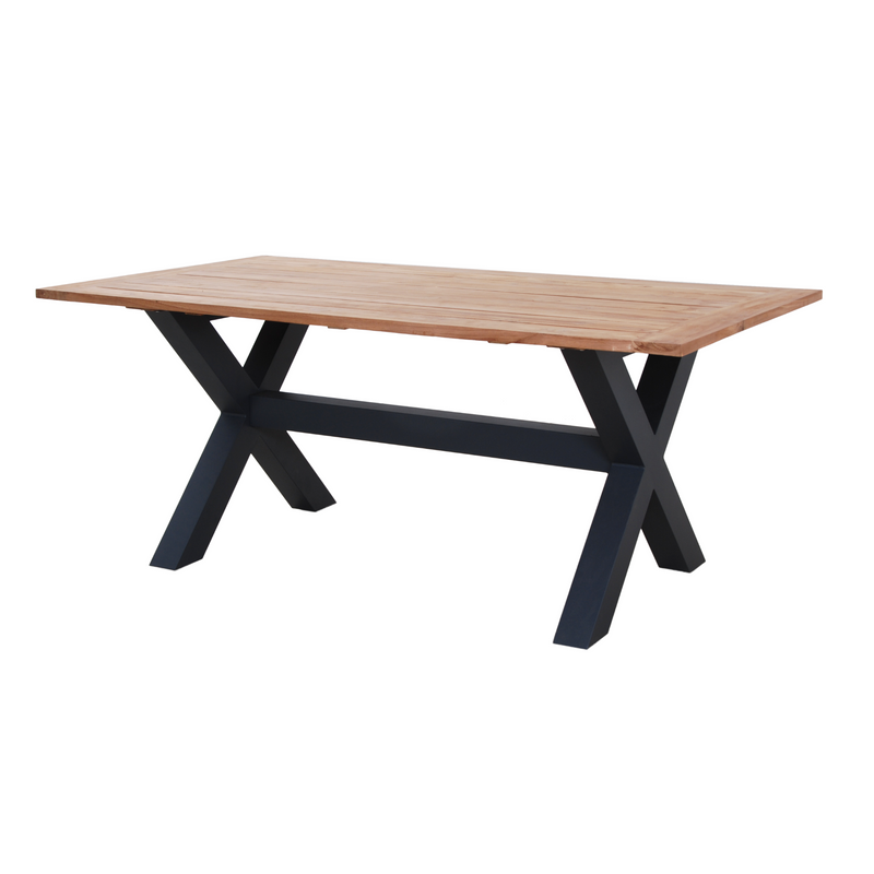 sense cross leg table grey
