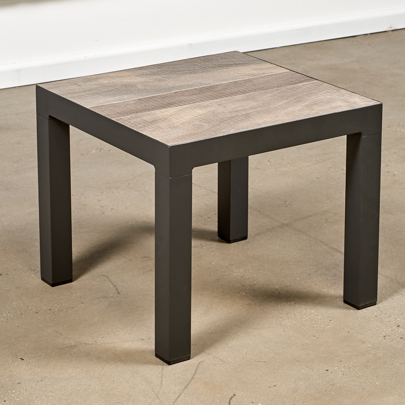 memphis 50cm end table charcoal wood look
