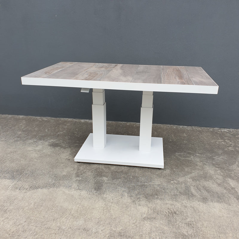 Memphis Pop-up Ceramic & Aluminium Table Large