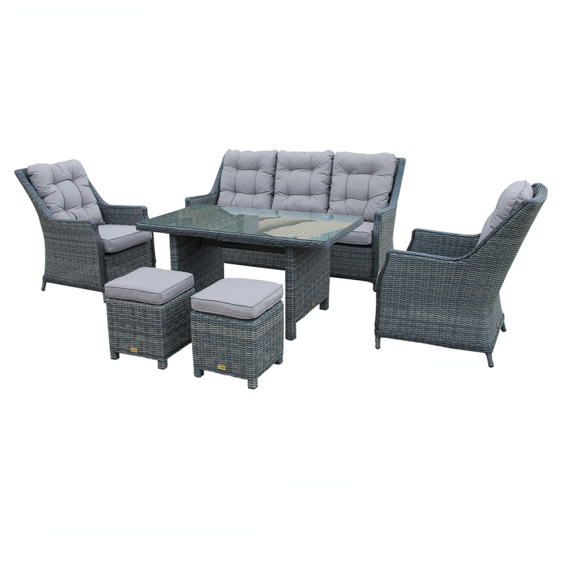 Tamworth 6pce Casual Dining Wicker Set