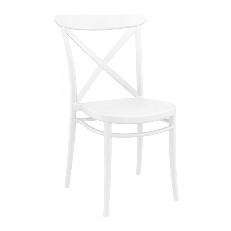 cross chair white
