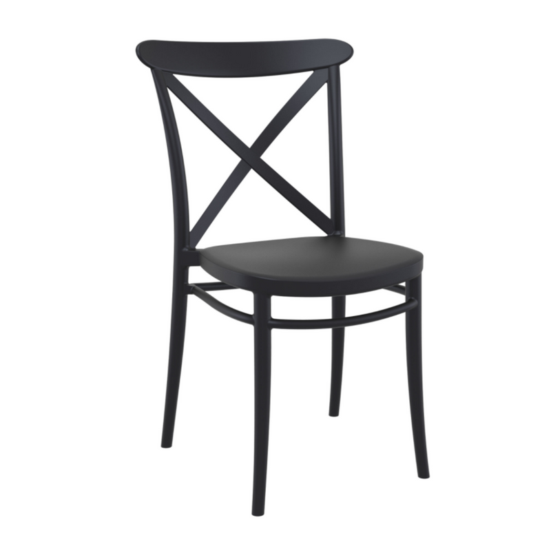cross chair black