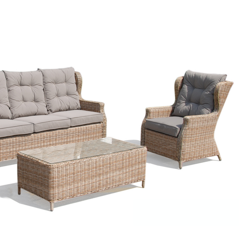 Anglesea 4pce Wicker Outdoor Lounge