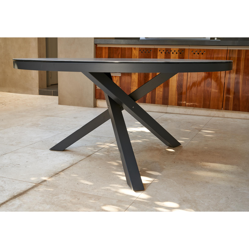 Apollo 150cm Round Dining Table side view