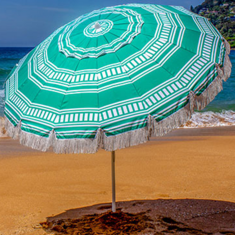 Bronte Shelta Beach Umbrella 2.2m NEW COLOURS
