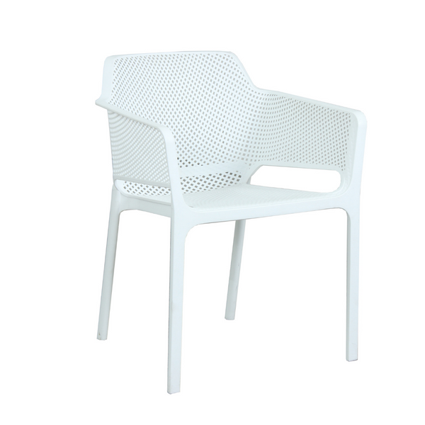 Bailey Resin Dining Chair - white