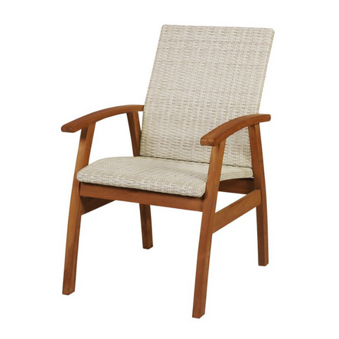 Flinders Wicker & Teak Dining Chair