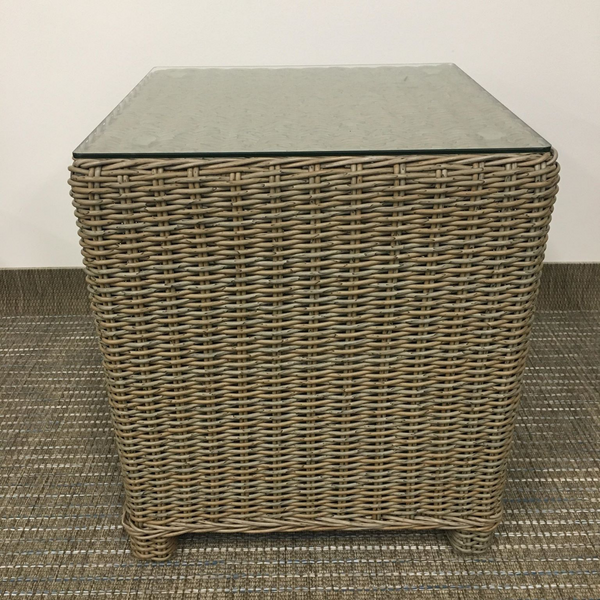 Foundation Wicker Side Table