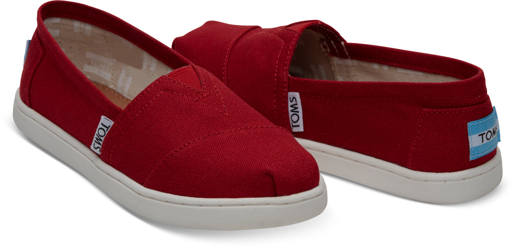 TOMS Youth Red Canvas