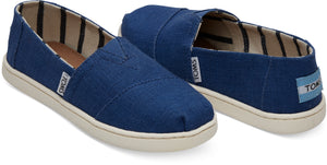 TOMS Youth Blue Canvas