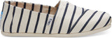 TOMS White & Navy Blue Stripe - RobertandSon